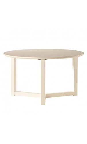 CAMINO A CASA - Table Basse Ronde Blanche 70 cm Three