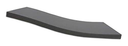 Dibapur ® Black: Orthopädische Kaltschaummatratze/Akustikschaumstoff - H2 - (130x200x5 cm) Ohne Bezug - Made in Germany