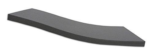 Dibapur ® Black: Orthopädische Kaltschaummatratze/Akustikschaumstoff - H2 - (100x200x5 cm) Ohne Bezug - Made in Germany
