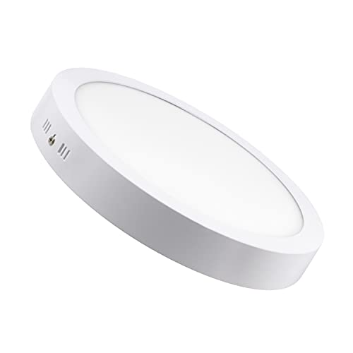 LEDKIA LIGHTING Plafón LED para Cocina, Comedor, Habitación, Baño 24W Circular Blanco Neutro 4000K - 4500K