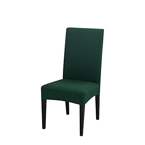 UKKO Chair Cover 2Pcstuhlabdeckung Spandexelastik-Vollfarbstuhlabdeckung Geeignet Fürrestaurantküche Hochzeitsmahlhotel-Dark Green,China,Universal Sizes