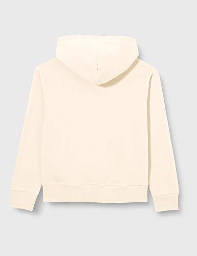 Champion Boys' Girls' Seasonal Big Logo Hooded Sweatshirt, White (Ww005), Small