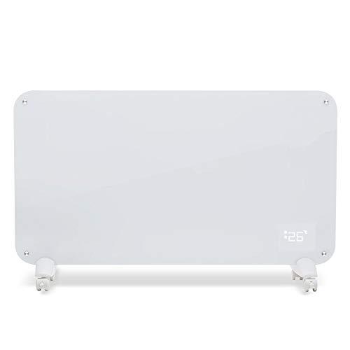 GJPJRQ Flächenheizung / 2 Sekunden Schnelles Aufheizen/Vielseitiges Design Heizkörper Mit Fernbedienung Für Zu Hause Elektrischer Heizkörper Effizienter Thermostat (2000 W),Weiß