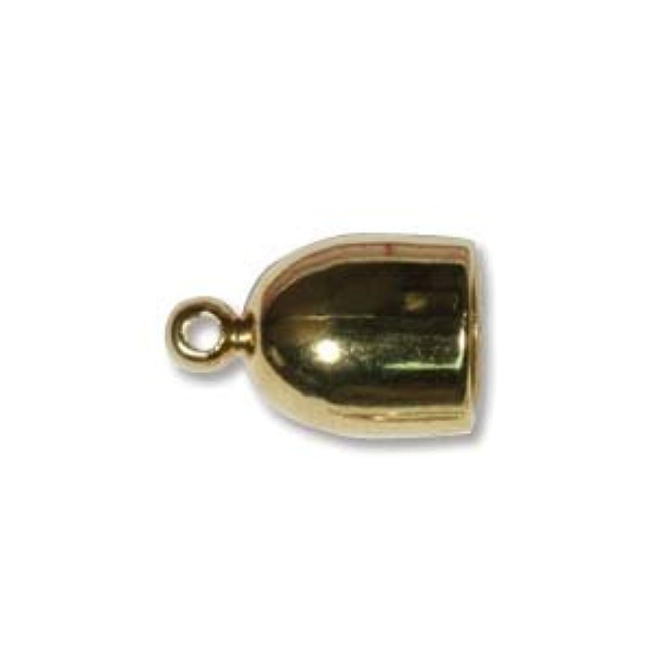 Gold Plate Bullet End Cap 6mm (6)