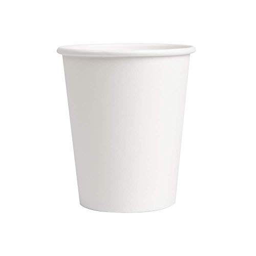 Monteluz -Vasos de Cartón Desechables, Biodegradables, Aptos para Cafés o Refrescos - Color Blanco - Pack 1800 Unidades (1800, 200ml)