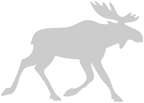 Samunshi® Finnland Elch Tier Aufkleber Autoaufkleber Sticker für Auto Motorrad Wohnmobil Scheiben in 11 Größen und 25 Farben (8x5,6cm Silber)