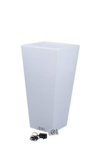 Wieder erhältlich - Tolle Geschenkidee - Großer LED Sektkühler eckig - Weinkühler - Edler Blickfang bei jeder Party - Feier - Jubiläum - beleuchteter LED Blumentopf - 77 x 37 x 37 cm - LED Flaschenkühler mit Farbwechsler - Sektkühler - LED Weinkühler - LED Getränkekühler - Kühler für Wasser, Wein, Sekt, Champagner, Saft - Sektkübel - Eiskübel - LED Eiswürfelbehälter - Blumentopf beleuchtet - schönes Geburtstagsgeschenk - Outdoor und Indoor