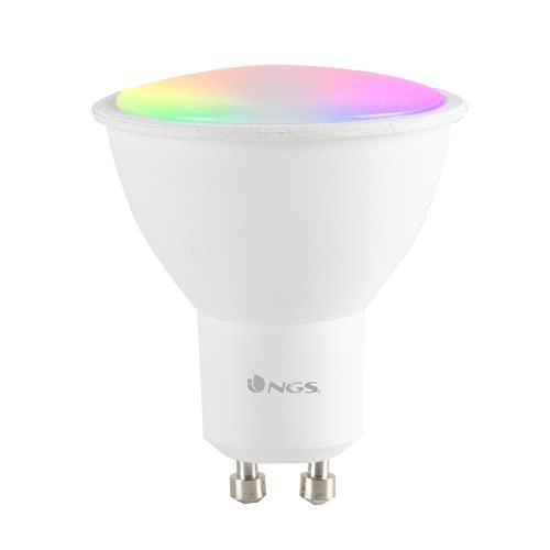 NGS GLEAM510C - Bombilla LED Wi-Fi con Colores Regulables RGB+W, Bombilla Inteligente Spot Foco 5W GU10 460LM, Controlada con APP/Alexa/Google Assistant [Clase de eficiencia energética A]