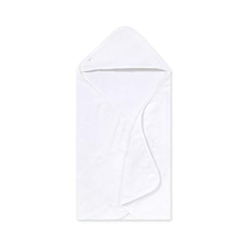 Burt's Bees Baby - Hooded Towel, Absorbent Knit Terry, Super Soft Single Ply, 100% Organic Cotton (Cloud White)