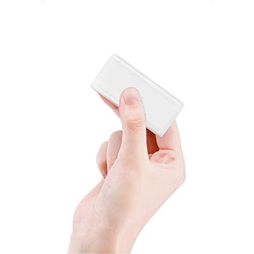 TNTOR モバイルバッテリー 軽量 超小型 持ち運び便利 5000mAh スマホ充電器 iPhone&Android各機種対応 電熱ベスト対応 スティック型(Type-Cケーブル付き 日本語説明書付き)【PSE認証済】ホワイト