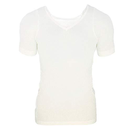 [Amazon限定ブランド] 締-TAI-(タイ)着圧加圧Tシャツ 白(ホワイト) M-Lサイズ ahappy