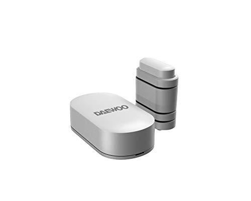 DAEWOO Contacteur de Porte WDS501 pour alarmes DAEWOO SA501, Technologie 868Mhz, Livré avec Support pour différentes épaisseurs de Portes/fenêtres