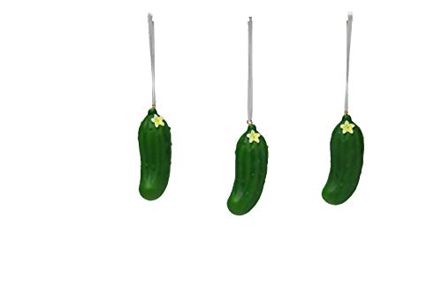 Comfy Hour Resin Lifelike Pickles Christmas Tree Ornaments Set of 3