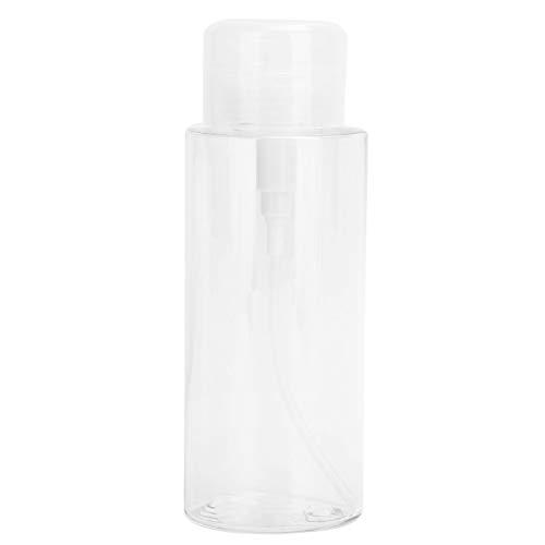 Recipiente de viaje para líquidos, diseño de presión superior portátil, 4 piezas, dispensador de cosméticos, botella para evitar presionar accidentalmente el champú para esmalte de uñas