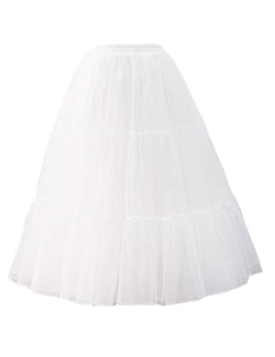 GRACE KARIN Reifrock Unterrock Petticoat Fuer Kleid Abendkleid Brautkleid Fastnacht Damen Weiß M 2512-2