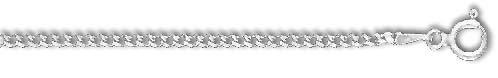 925スターリングシルバー2.0 mm縁石チェーンブレスレット-Oリングクラスプ-イタリア語-20センチ [並行輸入品]