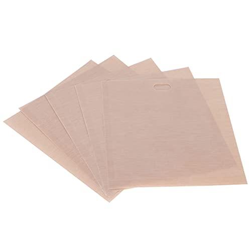 Bolsa para barbacoa, bolsas seguras Fácil de limpiar No pegajosa para la mayoría de las personas para una tostadora, microondas, horno o parrilla(17 * 19CM 5 paquetes)