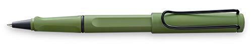 LAMY safari Tintenroller 341 – Moderner Rollerball in der Farbe Savannah mit ergonomischem Griff und zeitlosem Design – Mit Tintenroller-Mine M 63 schwarz – Strichbreite M