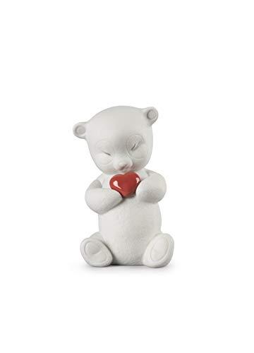 LLADRÓ Figurina Roby-Orso Coraggioso. Figurina Amore di Porcellana.