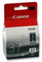 Canon PG-37 Cartucho de Tinta Original Negro para Impresora de Inyeccion de Tinta Pixma MP140-MP190-MP210-MP220-MP470-iP1800-iP1900-iP2500-iP2600