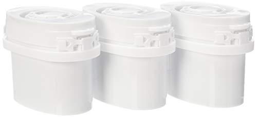 AmazonBasics - Cartuchos de filtro de agua, paquete de 3 filtros aptos para las jarras Aqua Optima y Brita MAXTRA (excepto jarras con filtro MAXTRA+)