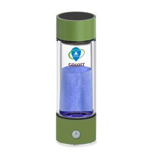 Hydrogen Alkaline Water Bottle Machine Maker Hydrogen Water Generator Ionizer with SPE and PEM Technology,US Membrane Make Hydrogen Content up to 800-1200 PPB and PH of 7.5-9.0 (green)
