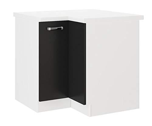 Küchen Eckunterschrank 89x89 cm für das Modell,Omega 240 Schwarz + Weiss'
