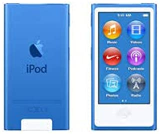 Music Player iPod Nano 7th Generation 16gb Blue Packaged in Plain White Box