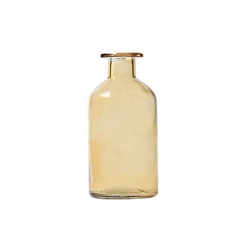 YANJ Florero transparente para conservación de flores, florero de cristal nórdico moderno florero grueso multicolor botella florero dormitorio