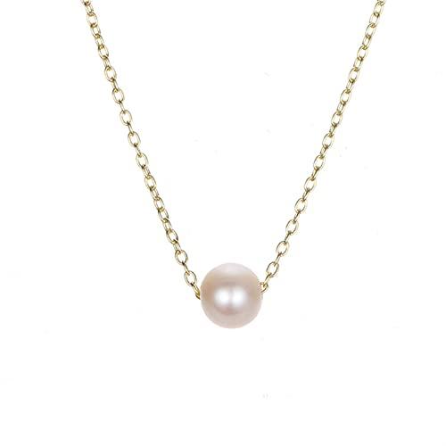 HFQJTU Collar Colgante de Las señoras, Collar de Tipo Cadena Exquisito, Adecuado para cumpleaños/Aniversario de Damas/Aniversario/Fiesta de la Familia de Regalos de joyería (Metal Color : B)