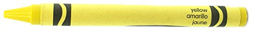 50 Yellow Crayons Bulk - Single Color Crayon Refill - Regular Size 5/16' x 3-5/8'