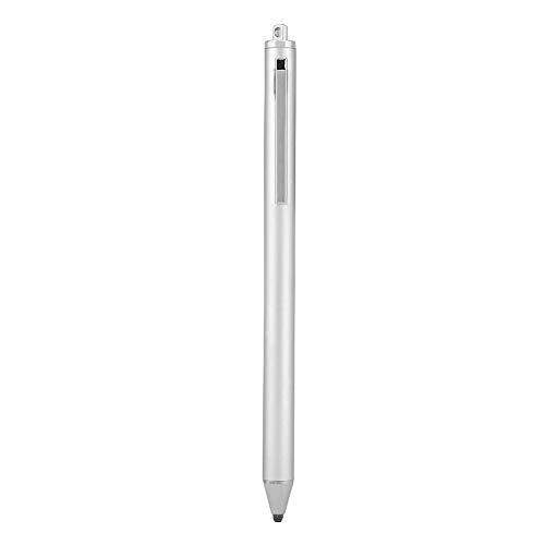 Penne stilo touchscreen universali, penne capacitive di alta sensibilità e precisione con punta fine, penna digitale attiva per tablet e telefoni, vari colori opzionali(Argento)