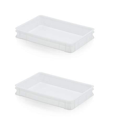 2x Teigbehälter 60 x 40 x 9,5 * Pizzaballenbox * Pizzateigbox * Teig Pizza Box