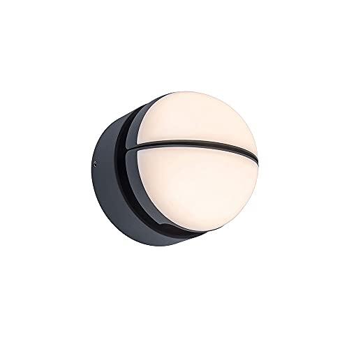 Xungzl El soporte de la lámpara sencilla puede girar la linterna de pared al aire libre LED, acabado negro creativo Impermeable Montaje en la pared al aire libre, mini iluminación para el hogar Luz de