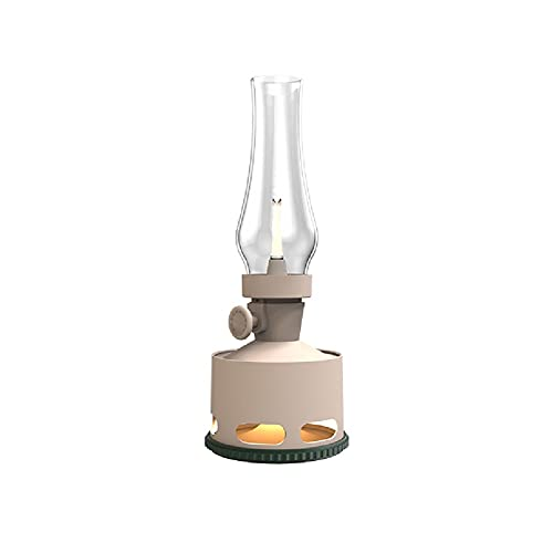 Lámpara de aceite Lámpara de queroseno Forma de lámpara de queroseno retro lámpara de mesa recargable, lámpara de noche de la noche de dormitorio luz de noche creativa vintage escritorio estudio crist