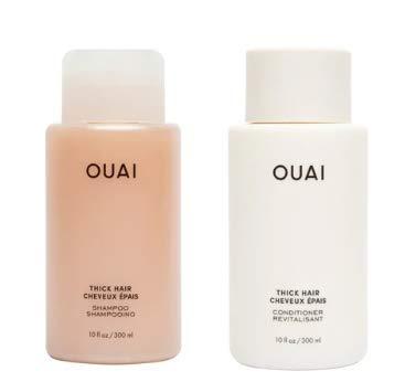 OUAI Thick Shampoo + Conditioner Set. Free from Sulfates. 10 oz Each.