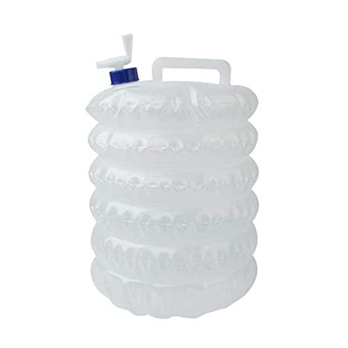 Cubo 10L, contenedor de Agua Plegable, con Grifo, portátil y fácil de Doblar al Aire Libre Cubo Plegable Coche PE de Grado alimenticio 10L Bolsa de Agua Potable Extensión para Acampar Cubo de almace