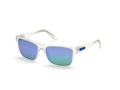 adidas OR0011 Gafas, Crystal/BLU Mirror, 57 para Hombre