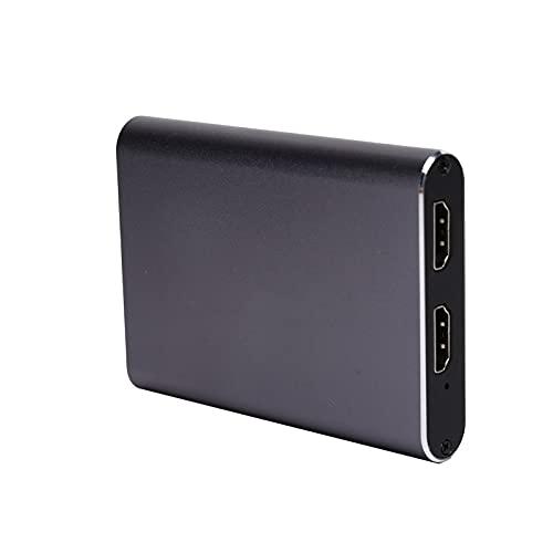 Sxhlseller Tarjeta de Captura de Video USB 3.0, Caja de Captura de Transmisión en Vivo de Aleación de Aluminio 4K 1080P HD para Computadora para Windows, para OS X, para Sistemas Android