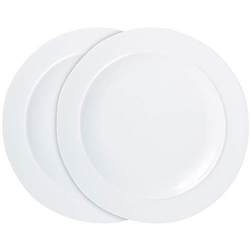 Denby 11048805 - Juego de platos (2 unidades), color blanco