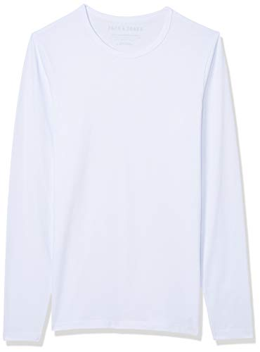 JACK & JONES - Maglietta Storm Sweat, Manica Lunga, Uomo, Bianco (Weiß (Optical White)), S