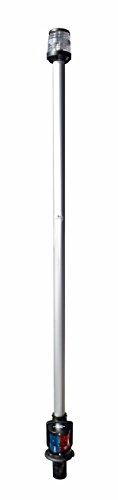 Osculati Lampenschaft für Steck Montage mit Zweifarben Laterne - 1000mm
