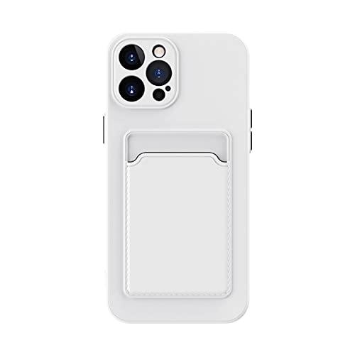 Oihxse Porta Carte di Credito con Portafoglio Custodia Compatibile con iPhone 7/8, Morbida Silicone TPU Flessibile Wallet Protettiva Case Moda Antiurto Protezione Cover