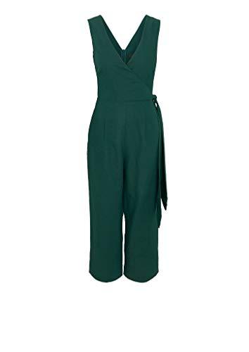 s.Oliver BLACK LABEL Damen Jumpsuit mit Wickeleffekt dark green 40