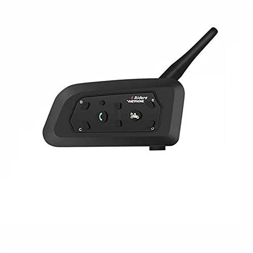 XWSQ Motocicleta Bluetooth Casco Intercomunicador Duplex Motocicleta Auriculares para 6 Pilotos V6 1200m (Color : 1 Pcs V6)