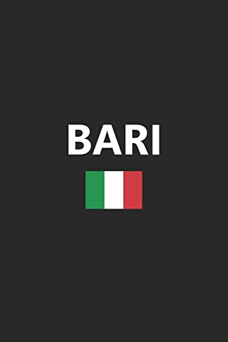 Bari: Italy Italian Italia Flag Country Notebook Journal Lined Wide Ruled Paper Stylish Diary Vacation Travel Planner 6x9 Inches 120 Pages Gift