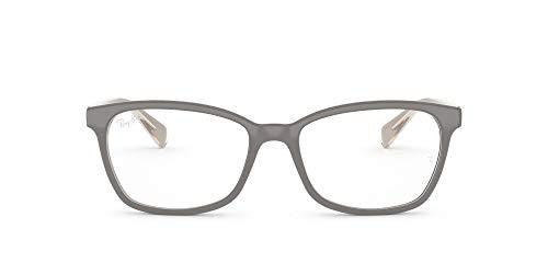Armação quadrada para óculos Ray-Ban RX5362, Lente cinza bege transparente/demonstração, 54 mm