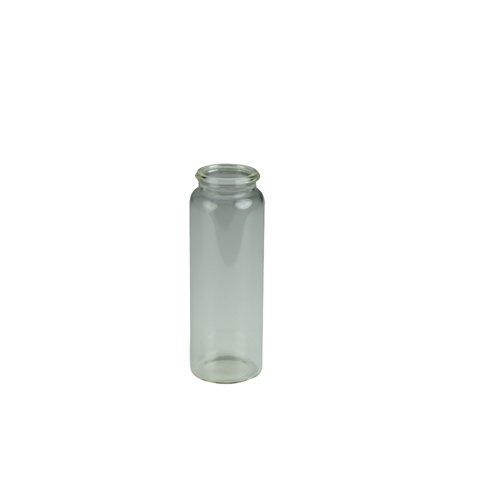 neoLab E-0055 Schnappdeckelgläser, flacher Boden, Sodakalk-Glas mit Deckel, PE, 10 mL (200-er Pack)