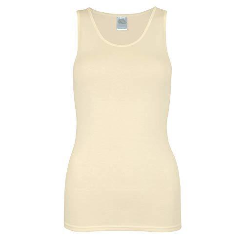wobera Angora Damen Hemd ohne Arm aus 70% Schurwolle KbT und 30% Seide Gr. L