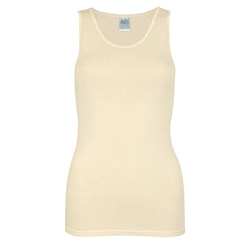 wobera Angora Damen Hemd ohne Arm aus 70% Schurwolle KbT und 30% Seide Gr. M